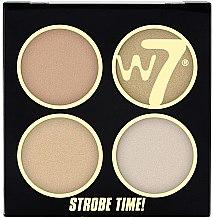 Düfte, Parfümerie und Kosmetik Highlighterpalette mit 4 Farben - W7 Strobe Time!