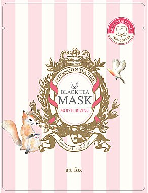 Feuchtigkeitsspendende Gesichtsmaske mit schwarzem Tee - A:t fox Moisturizing Black Tea Mask — Bild N1