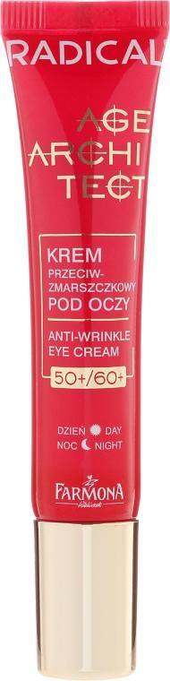 Anti-Falten Tages-und Nachtcreme gegen dunkle Augenringe und Schwellungen 50+/60+ - Farmona Radical Age Architect Anti Wrinkle Eye Cream 60+ — Bild N2