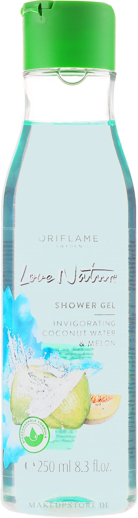 Duschgel Kokoswasser und Melone - Oriflame Love Nature Coconut Water&Melon Shower Gel — Bild 250 ml