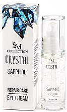 Düfte, Parfümerie und Kosmetik Regenerierende Lifting-Creme für müde Augen mit Saphirpulver - Hristina Cosmetics SM Crystal Sapphire Eye Cream
