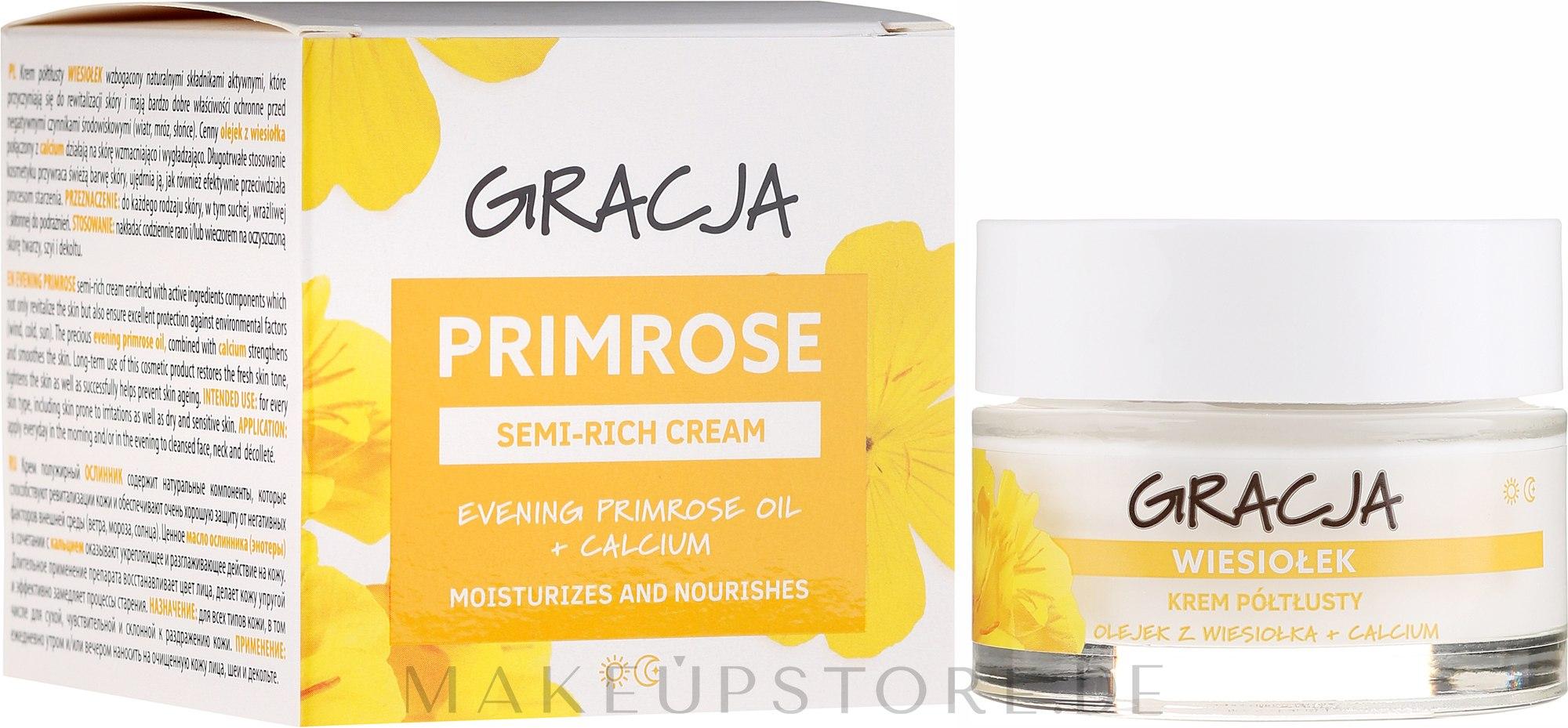 Anti-Falten Tages- und Nachtcreme mit Primelöl - Miraculum Gracja Semi-oily Cream With Evening Primrose — Bild 50 ml