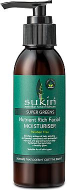Feuchtigkeitsspendende Gesichtscreme mit Avocado- und Jojobaöl - Sukin Super Greens Facial Moisturiser — Bild N1