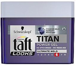 """Düfte, Parfümerie und Kosmetik Haargel """"Titan"""" ultimativ straker Halt für Männer - Schwarzkopf Taft Looks Titan Power Gel Ultimate Hold"""