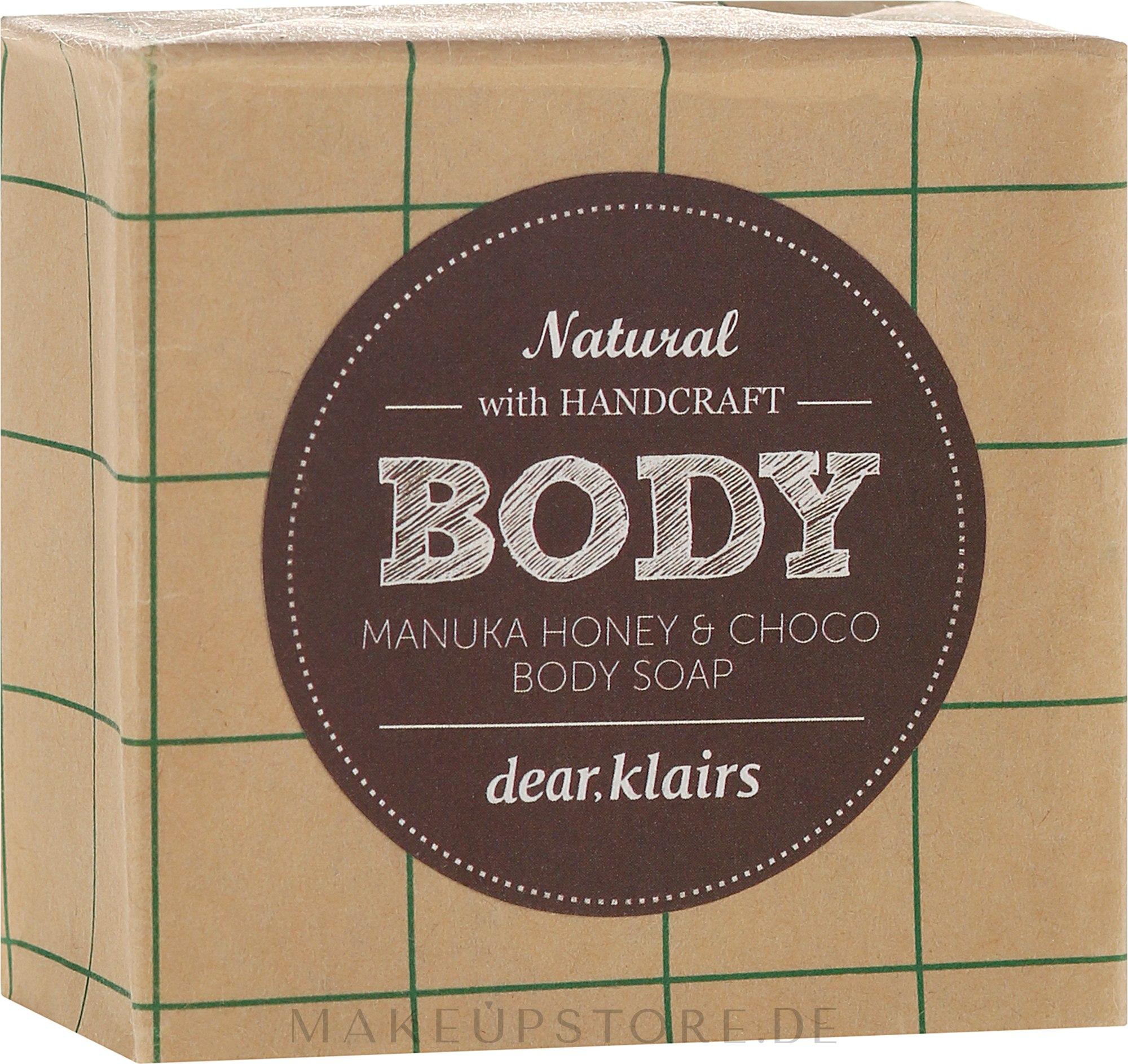 Körperseife mit Honig, Kakao und Olivenöl - Klairs Body Manuka Honey & Choco Body Soap — Bild 100 g