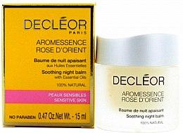 Düfte, Parfümerie und Kosmetik Beruhigender Nachtbalsam für das Gesicht ätherischen Ölen - Decléor Rose d'Orient Soothing Night Balm