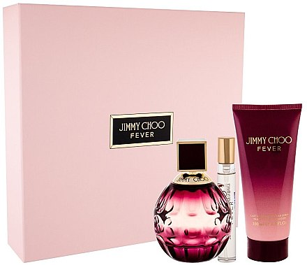 Jimmy Choo Fever - Duftset (Eau de Parfum 100ml + Körperlotion 100ml + Eau de Parfum 7.5ml) — Bild N1