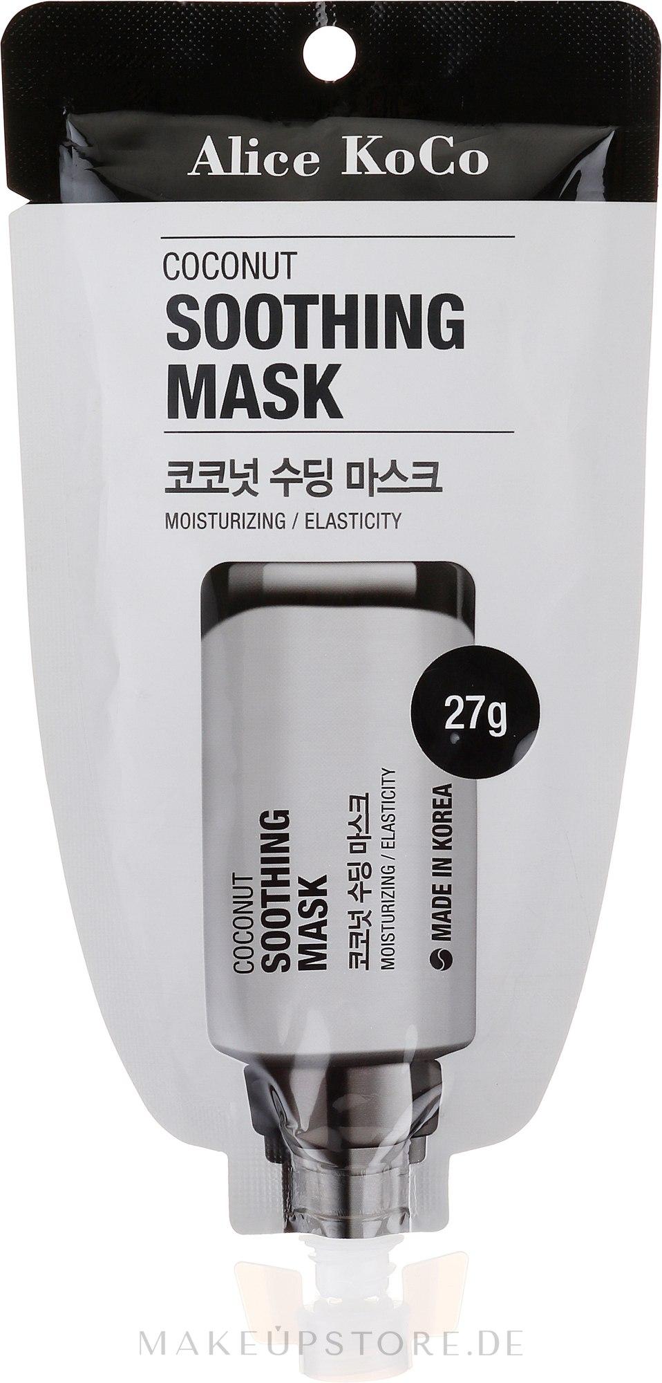 Beruhigende Gesichtsmaske mit Kokos - Alice Koco Coconut Soothing Mask — Bild 27 g