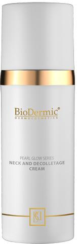 Straffende Pflege für Hals, Dekolleté und die Gesichtskonturen - BioDermic Pearl Glow Neck and Decolletage Cream — Bild N1