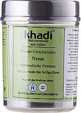 Düfte, Parfümerie und Kosmetik Erfrischende und ausgleichende Gesichtsmaske für normale bis fettige Haut - Khadi Neem Herbal Face Mask