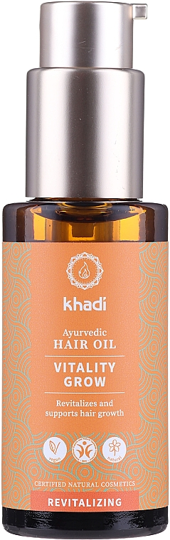 Ayurvedisches revitalisierendes Haaröl zum Wachstum - Khadi Ayurvedic Vitality Grow Hair Oil — Bild N1