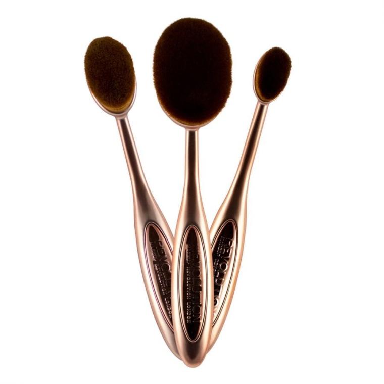 Konturierpinsel-Set 3 St. - Makeup Revolution Precision Contour Set — Bild N2
