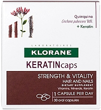 Düfte, Parfümerie und Kosmetik Nahrungsergänzungsmittel für gesunde Haare und Nägel - Klorane Keratincaps