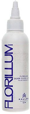 Haarlotion mit Silberglanz für graue und weiße Haare - Kallos Cosmetics Florillum Silver Gloss Lotion — Bild N1