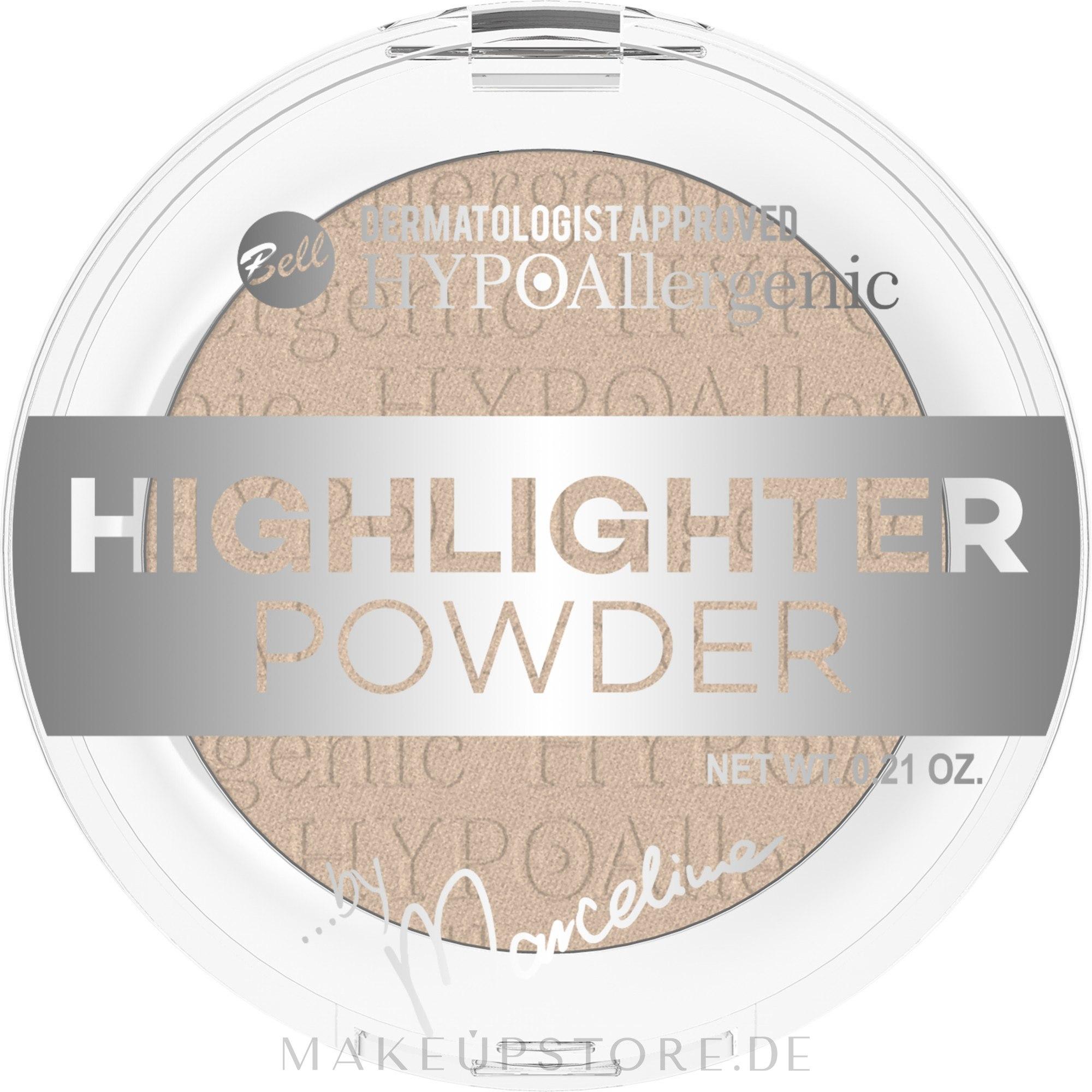 Gesichtspuder - Bell HYPOAllergenic Highlighter Powder by Marcelina — Bild 01 - Ivory