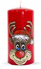 Düfte, Parfümerie und Kosmetik Dekorative Kerze Rudolf rot 7x14 cm - Artman Christmas Candle Rudolf