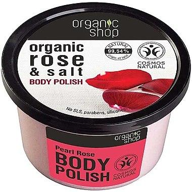 Sanftes Körperpeeling mit Bio-Rose und natürlichem Salz - Organic Shop Rose & Salt Body Polish — Bild N1