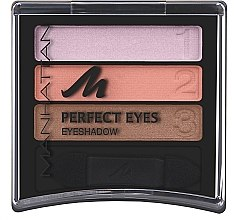 Düfte, Parfümerie und Kosmetik Lidschatten - Manhattan Eyeshadow Trio Perfect Eyes
