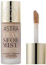 Düfte, Parfümerie und Kosmetik 2in1 Foundation und Gesichtsconcealer - Astra Transformist Foundation + Concealer
