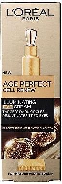 Augencreme gegen dunkle Ringe mit schwarzem Trüffel und fermentiertem Schwarztee - L'Oreal Paris Age Perfect Cell Renew Illuminating Eye Cream — Bild N1