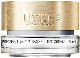 Düfte, Parfümerie und Kosmetik Ausgleichende Augenkonturcreme gegen erste Linien und Fältchen - Juvena Skin Optimize Eye Cream Sensitive