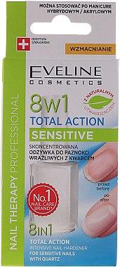 Konzentrierter Nagelhärter mit Quartz - Eveline Cosmetics Nail Therapy Professional Sensitive — Bild N1