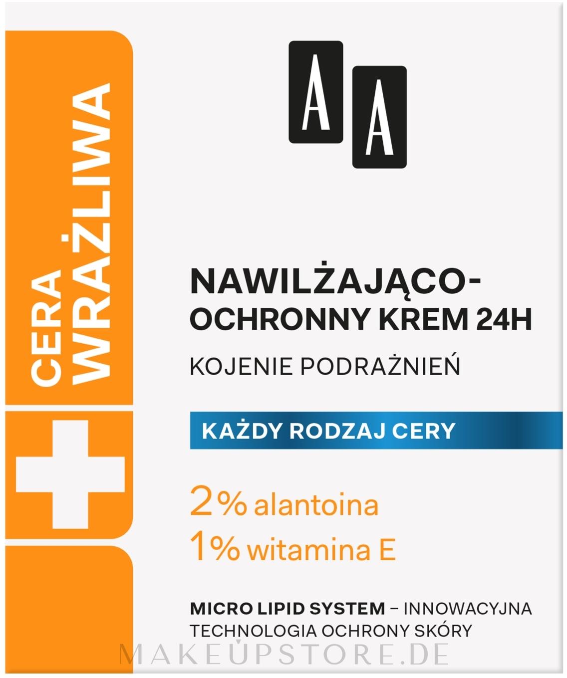 Feuchtigkeitsspendende und schützende Gesichtscreme - AA Technolgia Wieku Cera Wrażliwa Moisturizing-Protective Cream  — Bild 50 ml