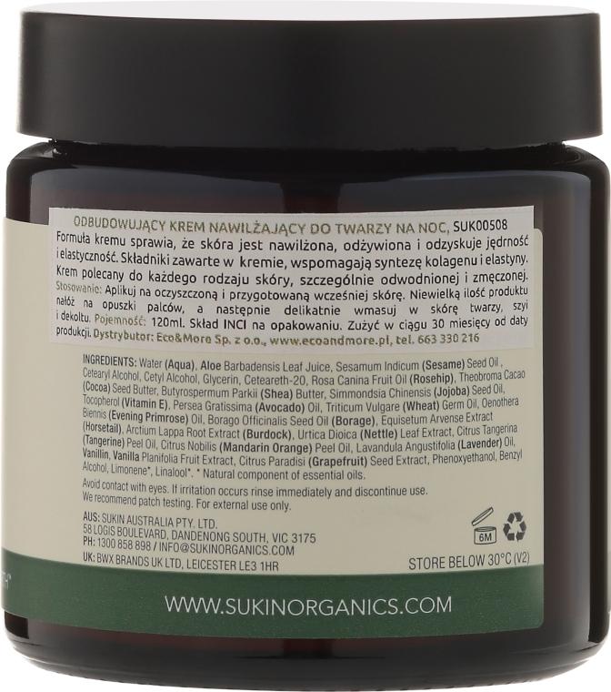 Regenerierende Nachtcreme für das Gesicht - Sukin Moisture Restoring Night Cream — Bild N2