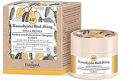 Düfte, Parfümerie und Kosmetik Anti-Falten Bio Tagescreme 40+ - Farmona Canadian Biolifting 40+ Yellow Birch Anti Ageing Day Cream