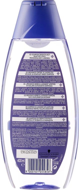 Volumen & Fülle Shampoo mit Lavendel und Kräuter der Provence - Schwarzkopf Schauma Nature Moments Provence Herbs & Lavender Shampoo — Bild N2