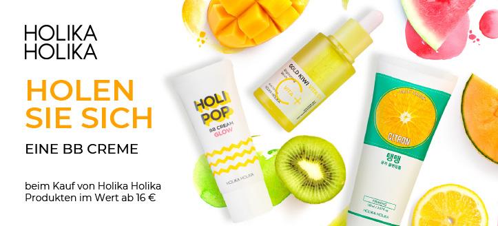 Beim Kauf von Holika Holika Produkten im Wert ab 16 € bekommen Sie eine BB Creme geschenkt
