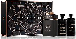 Düfte, Parfümerie und Kosmetik Bvlgari Man In Black - Duftset (Eau de Parfum/60ml + Duschgel/40ml + After Shave Balsam/40ml)