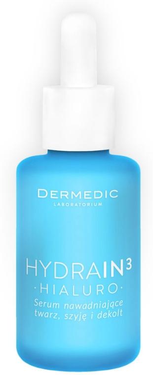 Feuchtigkeitsspendendes Serum für Gesicht, Hals und Dekolleté mit Hyaluronsäure - Dermedic Hydrain 3 Hialuro Hydrating Serum