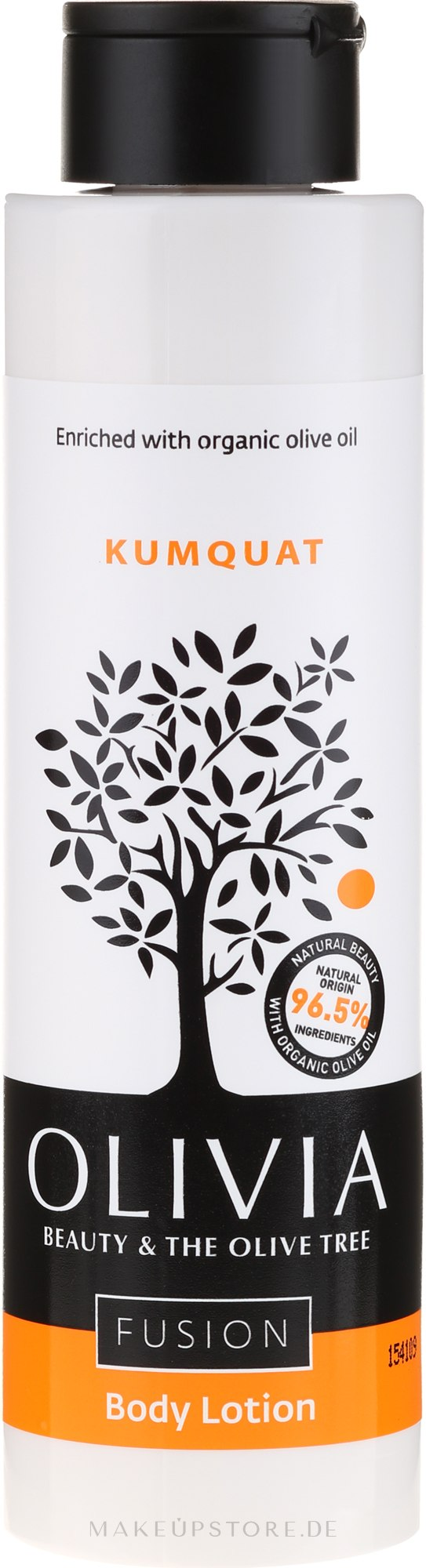 Körperlotion mit Kumquatextrakt - Olivia Beauty & The Olive Fusion Body Lotion Kumquat — Bild 300 ml