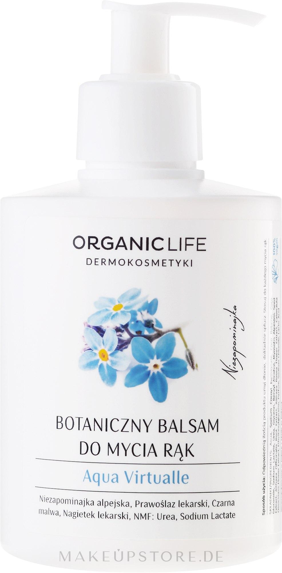 Feuchtigkeitsspendender Handwaschbalsam - Organic Life Dermocosmetics Aqua Virtualle Moisturizing Hand Wash Balm — Bild 300 g