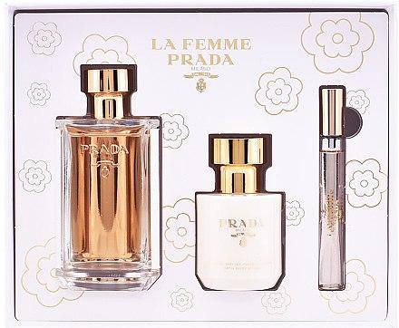 Prada La Femme Prada - Duftset (Eau de Parfum 100ml + Körperlotion 100ml + Eau de Parfum Mini 10ml) — Bild N1