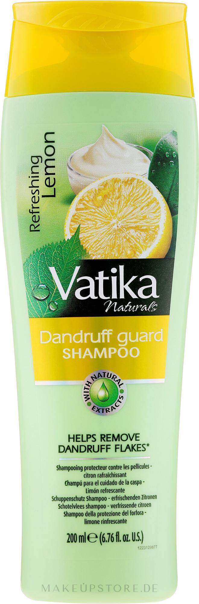 Erfrischendes Zitronenshampoo gegen Schuppen - Dabur Vatika Refreshing Lemon Shampoo — Bild 200 ml