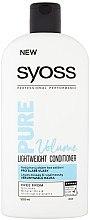 Düfte, Parfümerie und Kosmetik Leichter Conditioner für dünnes Haar - Syoss Pure Volume Lightweight Conditioner