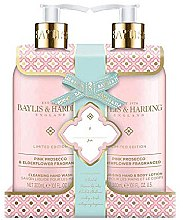 Düfte, Parfümerie und Kosmetik Körperpflegeset - Baylis & Harding Prosecco & Elderflower (Duschgel 300ml + Körperlotion 300ml)