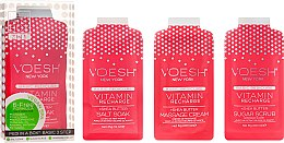 Düfte, Parfümerie und Kosmetik Pediküre-Set mit rosa Grapefruit - Voesh Pedi In A Box 3 In 1 Deluxe Pedicure Vitamin Recharge Pink Grapefruit (35 g)