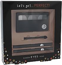 Düfte, Parfümerie und Kosmetik Make-up Set (Lidschatten + Augenkonturenstift 2 St. + Applikator 1 St.) - Cosmetic 2K Lets Get Perfect Eyes Set2 Grey