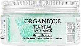 Düfte, Parfümerie und Kosmetik Gesichtsmaske zur Entgiftung mit Weiß- und Grüntee, Traubenkernöl und Vitamin E - Organique Tea Ritual Face Mask