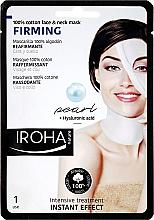 Düfte, Parfümerie und Kosmetik Straffende Gesichtsmaske mit Hyaluronsäure - Iroha Nature Firming Pearl 100% Cotton Face & Neck Mask