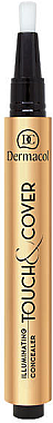 Illuminierender Concealer mit Pinsel - Dermacol Highlighting Elick Concealer Touch & Cover — Bild N2
