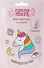 """Düfte, Parfümerie und Kosmetik Feuchtigkeitsspendende Tuchmaske mit Mondstein und Perle """"Einhorn"""" - Marion Funny Mask"""