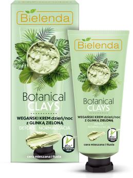 Detox Gesichtscreme mit grünem Ton - Bielenda Botanical Clays Vegan Day Night Cream Green Clay — Bild N1
