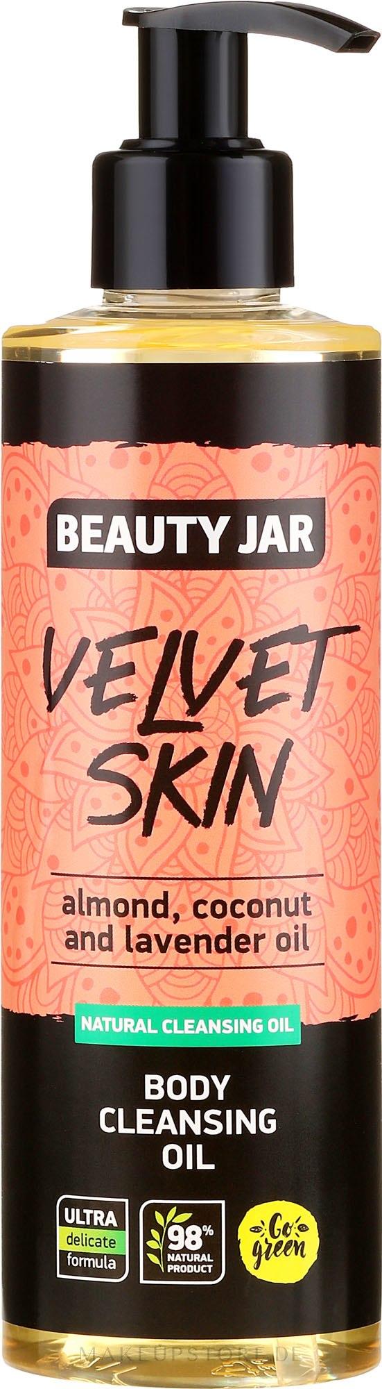 Körperreinigungsöl mit Mandel-, Kokos- und Lavendelöl - Beauty Jar Velvet Skin Body Cleansing Oil — Bild 250 ml