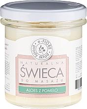 Düfte, Parfümerie und Kosmetik Massagekerze Aloe Vera & Polmelo - E-Fiore Massage Soy Candle Aloe & Pomelo
