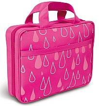 Düfte, Parfümerie und Kosmetik Faltbare Kosmetiktasche mit Henkel 4945 rosa mit Tröpfchen - Donegal Cosmetic Bag