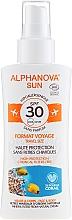 Düfte, Parfümerie und Kosmetik Bio Sonnenschutzspray für Gesicht und Körper SPF 30 - Alphanova Sun Bio SPF30 Spray Voyage
